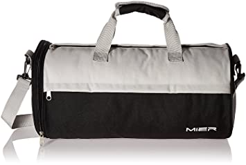 MIER Barrel Sports Bag Small Gym With Shoes Compartment For Men And Women 2