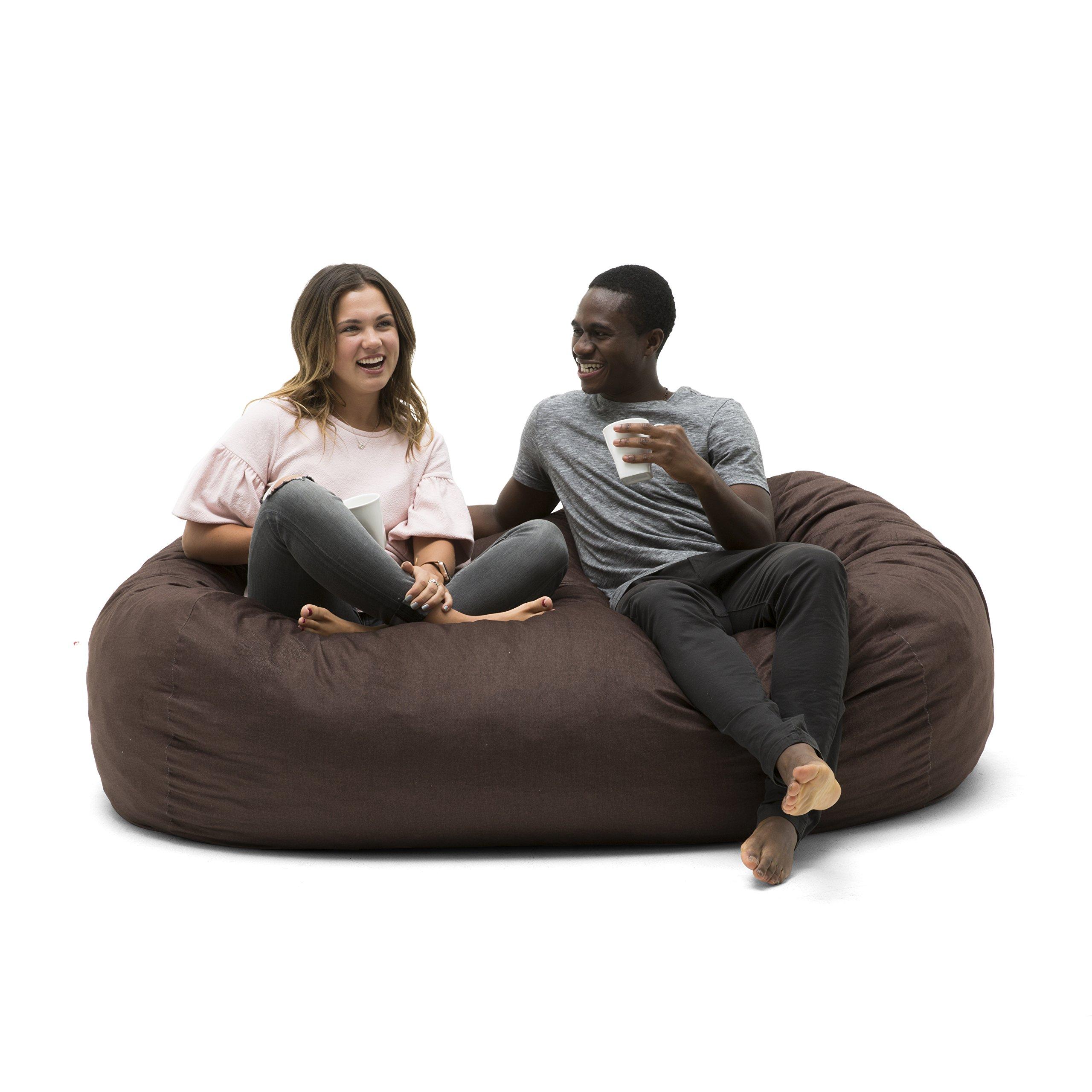 Big Joe 0002656 Media Lounger Foam Filled Bean Bag Chair, Cocoa Lenox by Big Joe