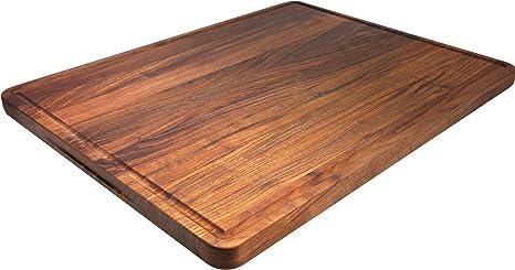 Walnut /& Poplar End Grain Cutting Board with Juice Groove