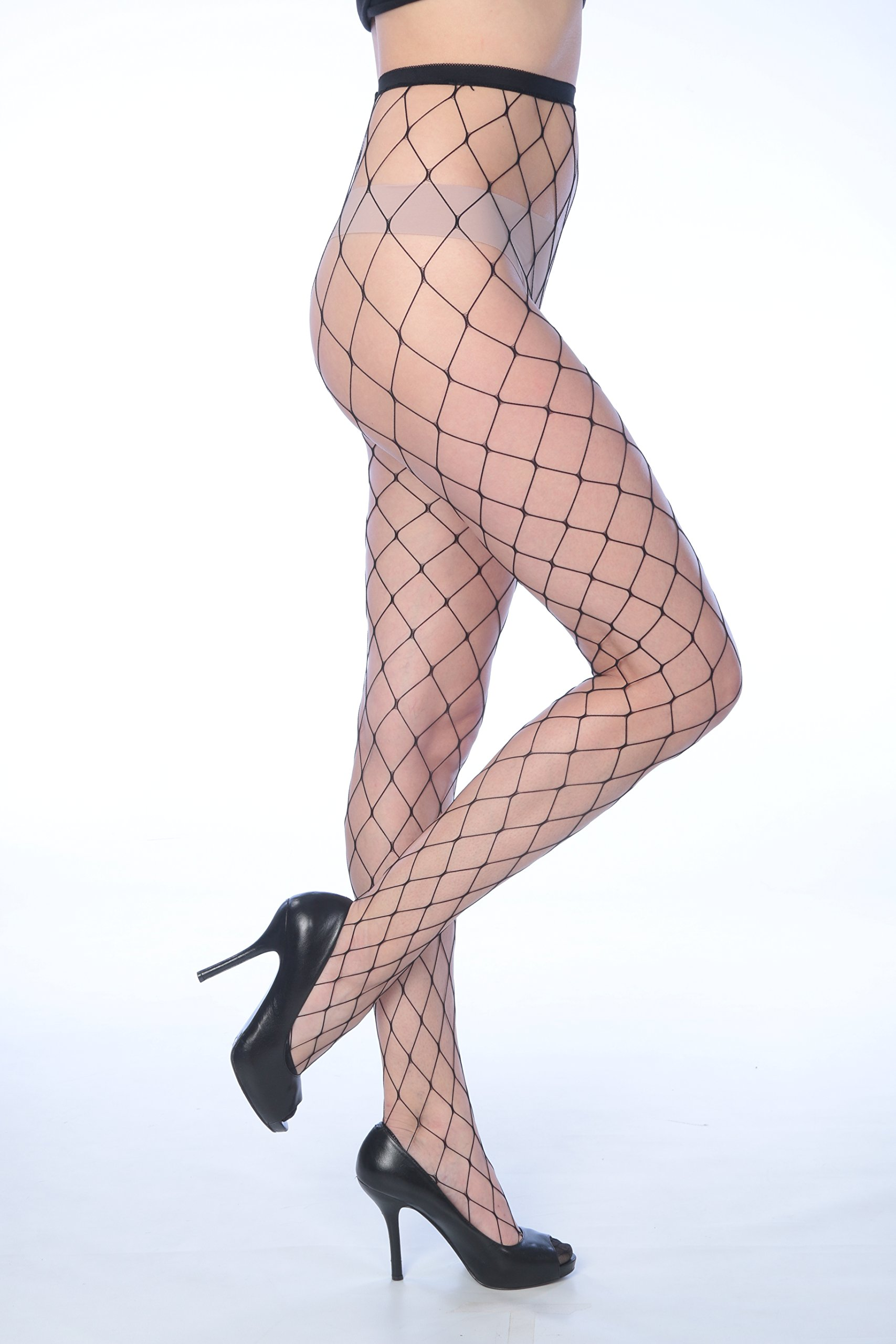 Isadora Paccini Women's 6-Pack Fishnet Lace Pantyhose Tights (One Size Fits Most, black 807)