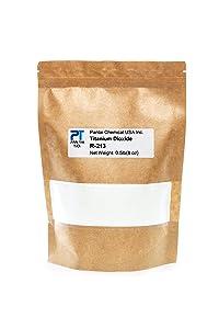 Pure Fine Titanium Dioxide (TiO2) Food-Grade Safe Colorant | Pigment, Toothpaste, Edible Use | Vegan Friendly, Non-GMO | Resealable Bag (PTR-213) 16oz/8oz/4oz (8oz/0.5lb)