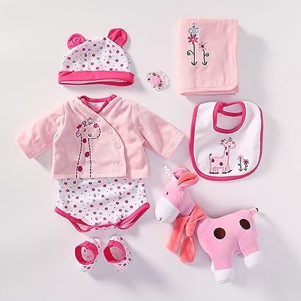 Yesteria Vestiti Bambole per Bambole Reborn da 50 55 cm Giraffa Rosa