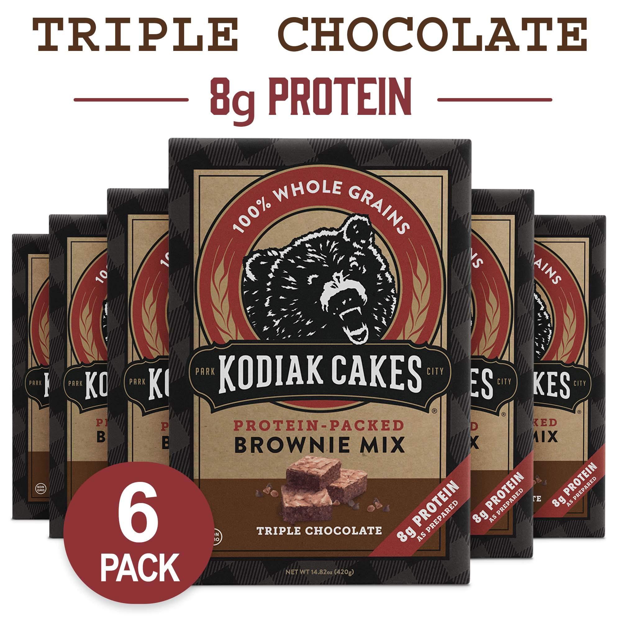 Kodiak Cakes Triple Chocolate Brownie Mix, 14.8 Ounce Boxes (Pack of 6) by Kodiak Cakes