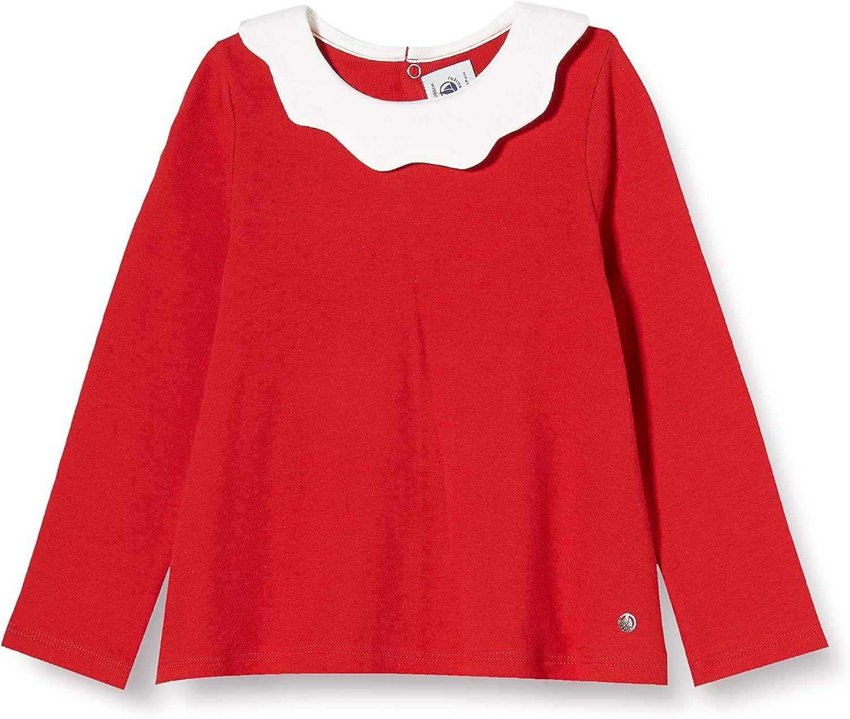 Petit Bateau Baby Girls Long-Sleeved Blouse