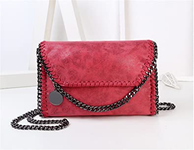 Amazon.com: spyman Nice Women Messenger Bags Pu Fashion Portable Evening Chains Hobo Borsa Clutch Bolso Female Carteras Mujer Handbags red medium: Shoes
