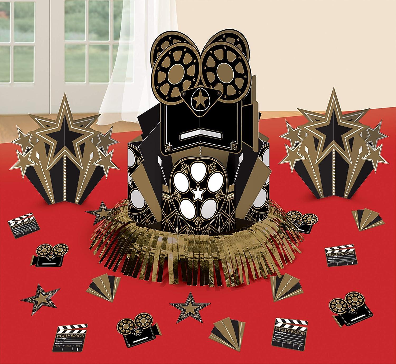 braun amscan 281896 Luxuri/öser Tischdeko Hollywood Glitz /& Glam