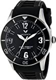 Viceroy Men's 42108-55 Fun Colors 12 Round Stainless Steel Luminous Hands Black Soft Rubber Watch