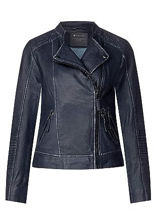 brand new ac736 a5188 Street One Damen Lederjacke im Biker-Style: Amazon.de ...
