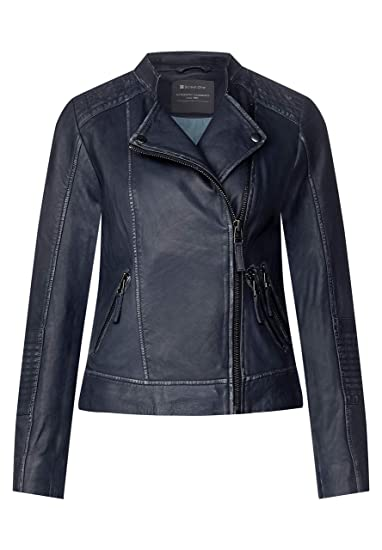 STREET ONE Lederjacke im Biker Look deep blue | STREET ONE Online Shop