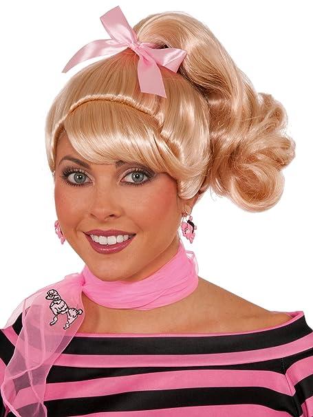 Amazon Com Fun World 430001 50s Blonde Ponytail Wig Adult Clothing