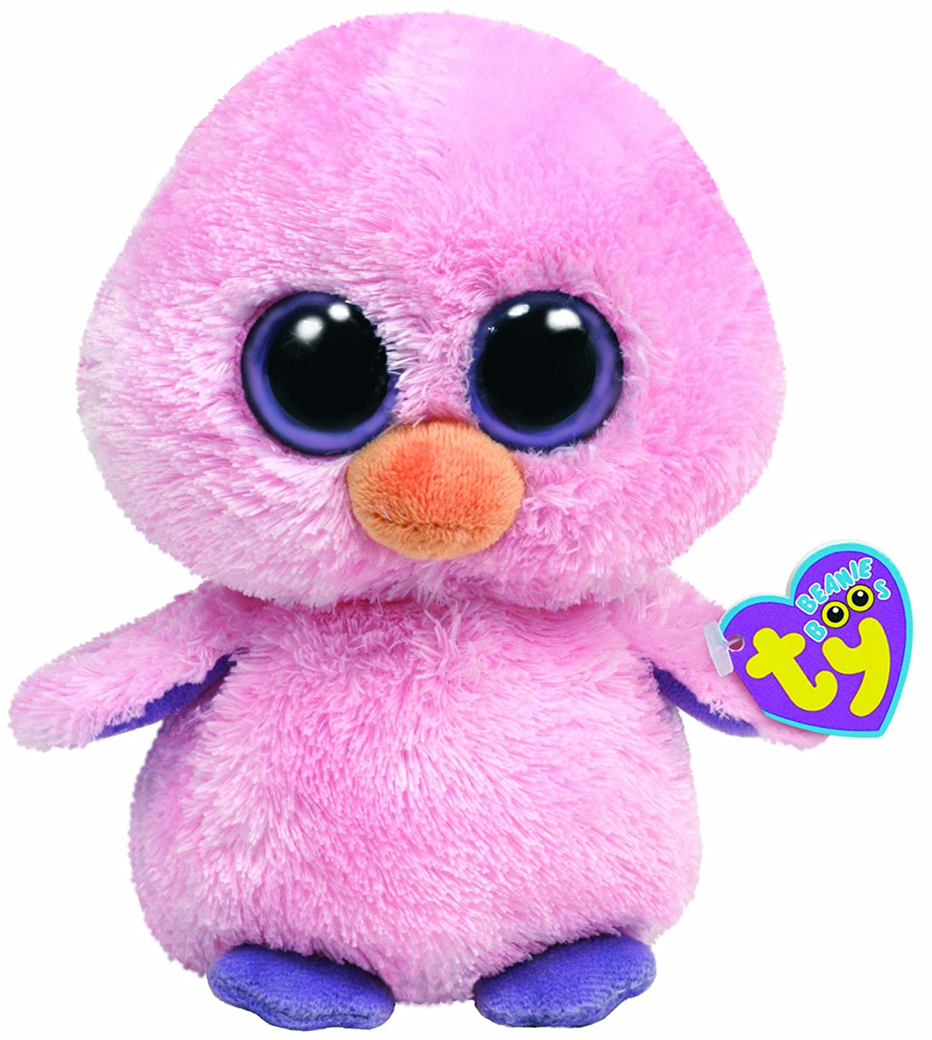 Amazon.com  Ty Beanie Boos Posy Pink Chick  Toys   Games 8a7406025ca