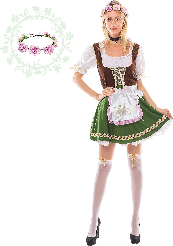 Amazon.com: Disfraz de Oktoberfest alemán para mujer, con ...