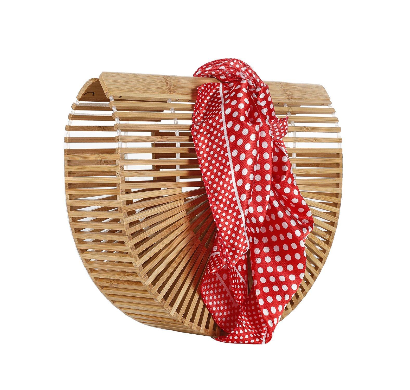 Bamboo Handbag Bamboo Ark bag Clutch Ladies Tote Bags(style 3-bamboo handbag)