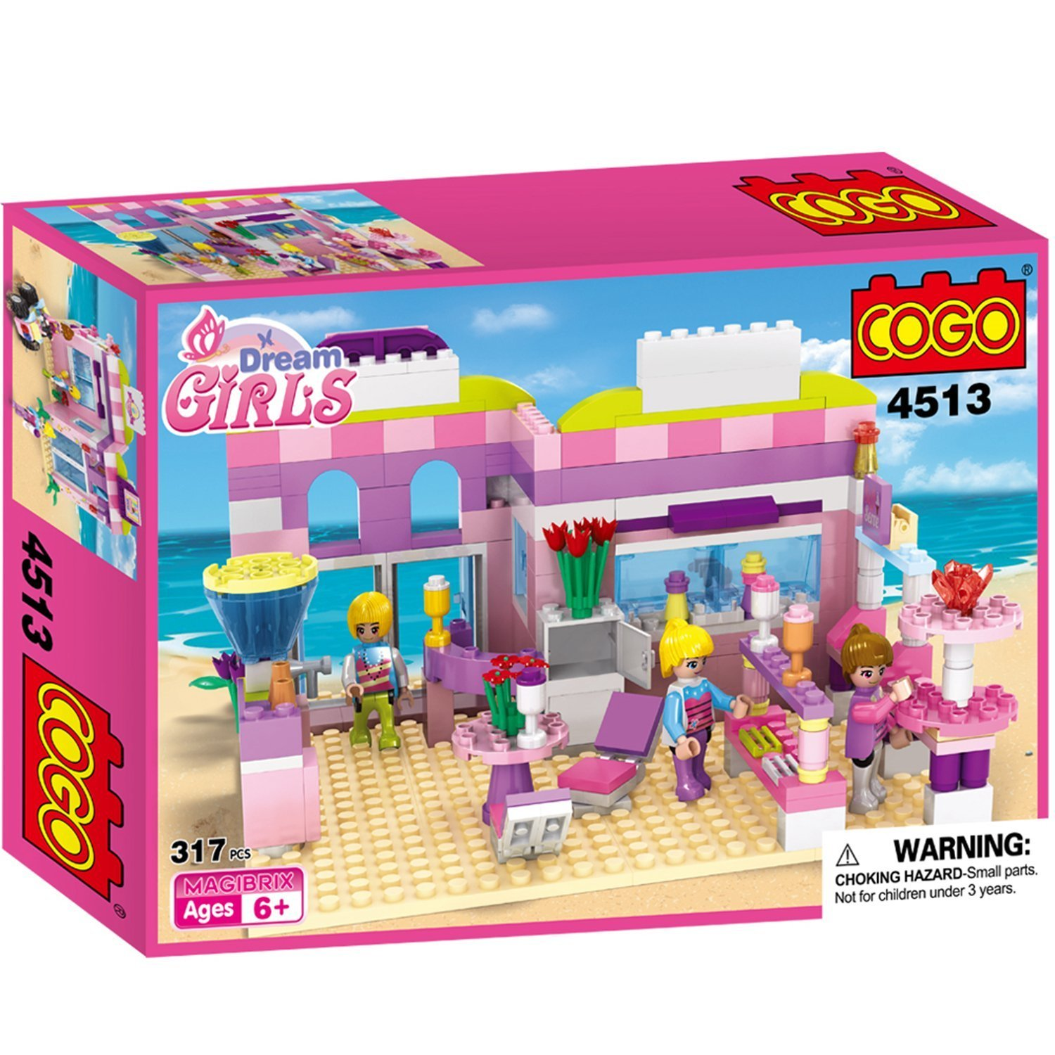 Amazon COGO Dream Girls House Building Bricks Blocks Playset
