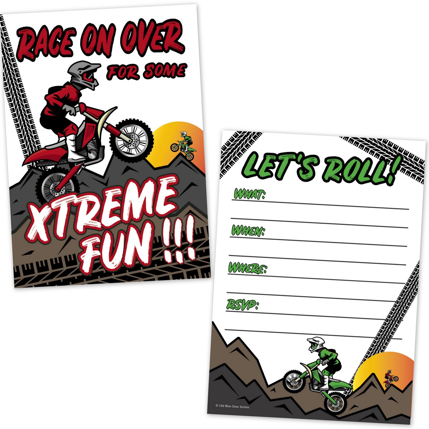 Amazon.com: Motocross Dirt Bike Racing Party Birthday Party ...