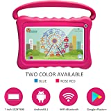 Kids Tablet 7 Toddler Tablet for Kids Edition Tablet with WiFi Camera Children's Tablets Android 9.0 Parental Control with Shockproof Case 1GB + 16GB (Rose Red)