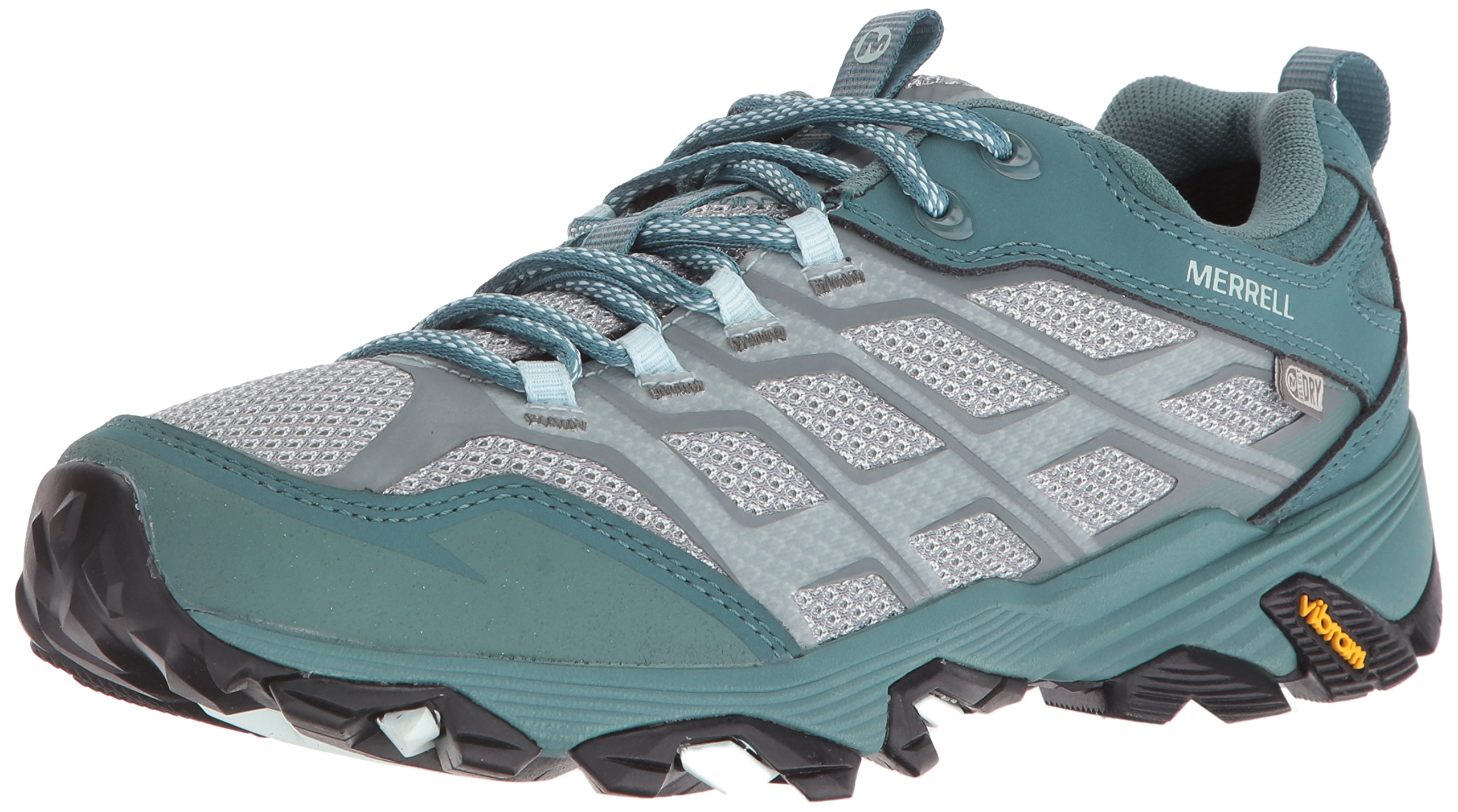 Merrell Women's Moab FST Waterproof Hiking Boot, Sea Pine, 7.5 M US