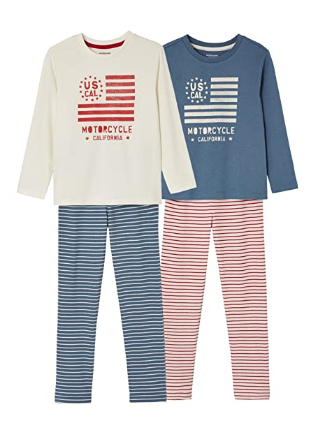 VERTBAUDET Lote de 2 Pijamas niño combinables: Amazon.es: Ropa y accesorios
