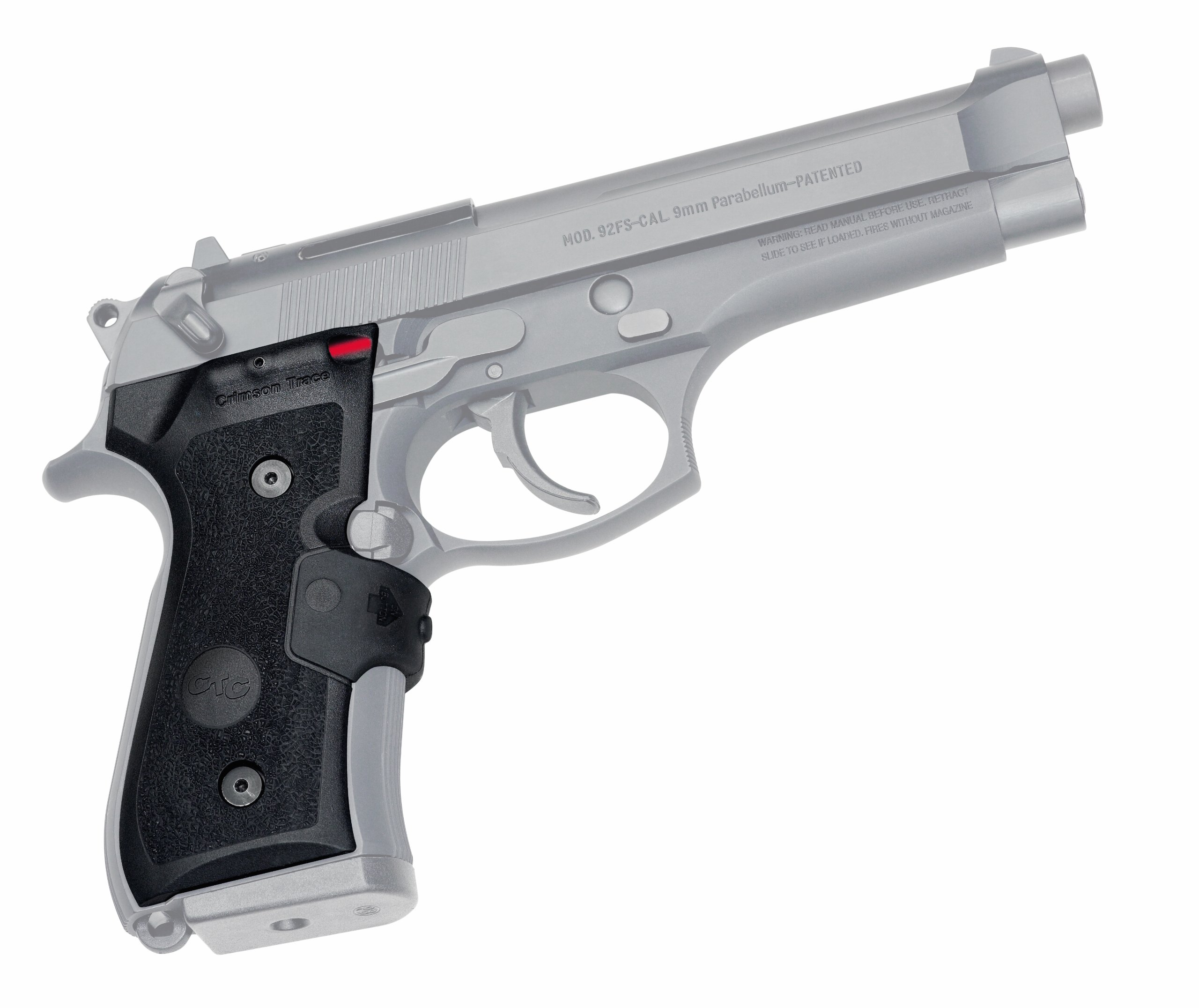 Crimson Trace LG-402-M Lasergrips Red Laser Sight Grips for Beretta 92/96/M9 Pistols - MIL-SPEC by Crimson Trace