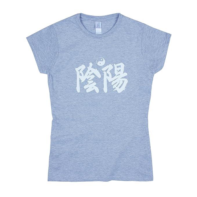YIN YANG T - Camiseta en Yo Caligrafía Japonesa Japón Taoísmo Meditación para Yoga Tai Chi Camisa: Amazon.es: Ropa y accesorios