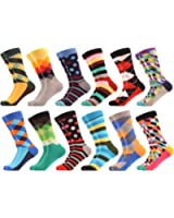WeciBor Men's Funny Casual Combed Cotton Novelty Crazy Socks Pack