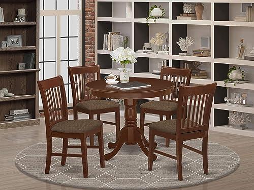 East West Furniture ANNO5-MAH-C Dining Room Set