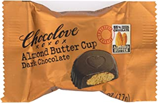 product image for Chocolove Xoxox Cup - Almond Butter - Dark Chocolate - Case of 50 - .6 oz