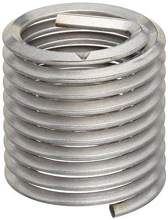 Pack of 10 M7-1.0 Thread Size E-Z Lok SK40720 Metric Helical Threaded Insert Kit 14 mm Installed Length 304 Stainless Steel