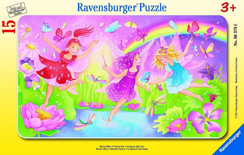 Ravensburger 06379 - Kleine Elfen - 15 Teile Rahmenpuzzle: Amazon.de ...