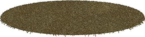 Koeckritz Round 5 Jungle Shaggy Indoor Area Rug – Shaggy Carpet for Residential or Commercial use with Premium Bound Polyester Edges.