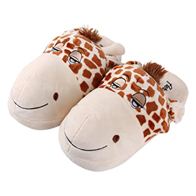 Aerusi Unisex-Kids Giraffe Animal Plush Slipper