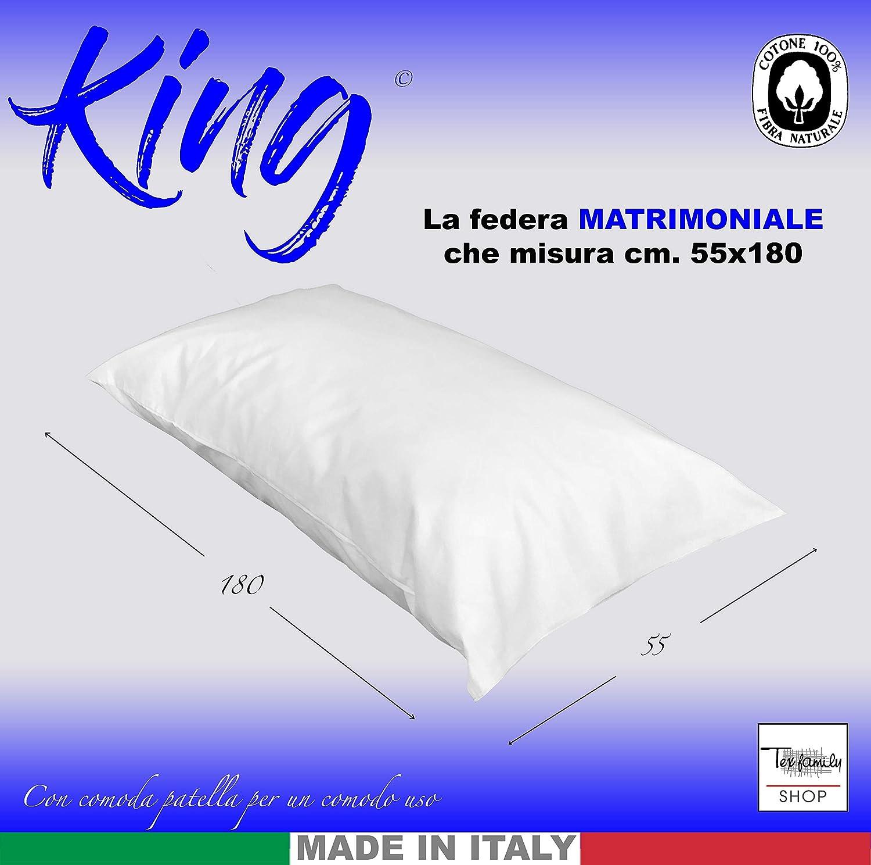 55 X 180 tex family Federa King Matrimoniale Misura cm Bluette