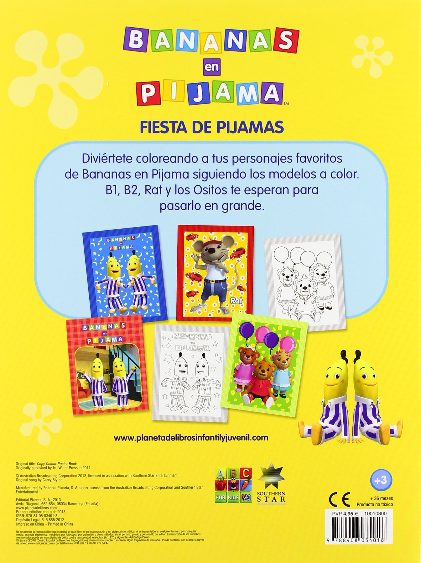 Fiesta de pijamas: colorea siguiendo el modelo: Bananas en Pijama: 9788408034018: Amazon.com: Books