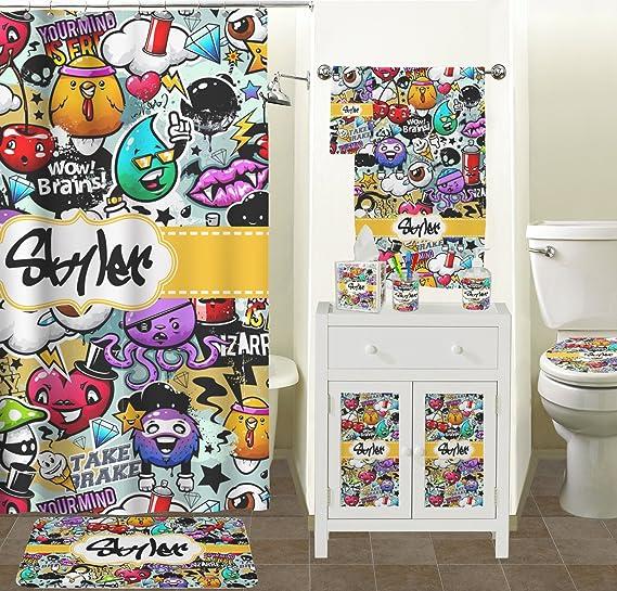 Graffiti jabón/dispensador de loción (cristal) (personalizado): Amazon.es: Hogar