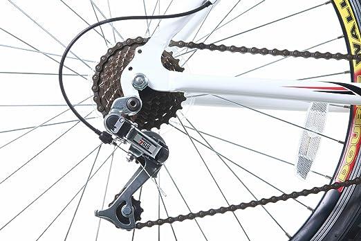 Titan White Knight Aluminium Lenker Radaufhängung Herren Mountain Bike Mit Bremse Weiß Fahrrad Kette Sport Freizeit