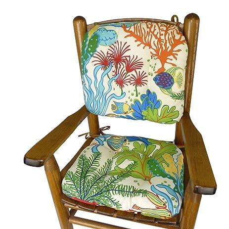 Splish Splash Child Porch Rocker Cushions   Seat Cushion And Back Cushion  For Childrenu0027s Rocking Chair