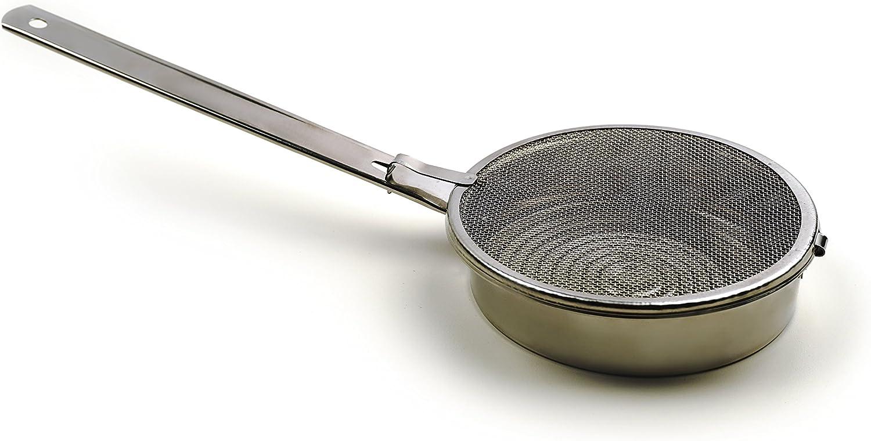 "RSVP International Endurance V Vintage Sesame Seed Toasting Pan, 4.5"", Stainless Steel"