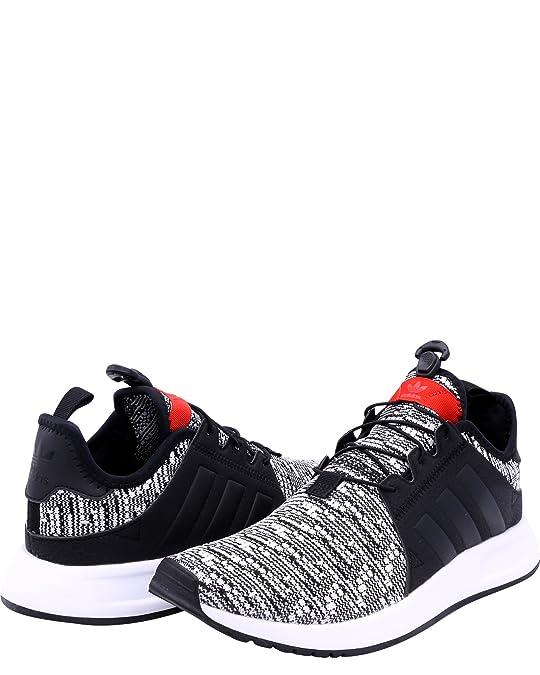 adidas x a infrarossi j sneakers (ragazzo), nero / rosso corsa, 4
