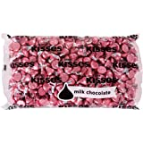 KISSES Chocolates, Gluten-Free Solid Milk Chocolate Candy Wrapped in Pink Foil, 66.7 Ounce Bulk Bag