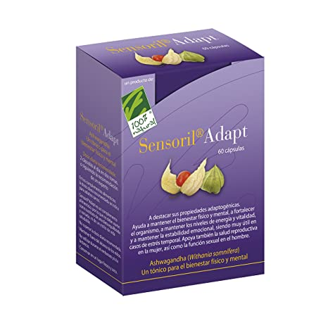 Cien Por Cien Natural SENSORIL adapt. 60cap. - 100 gr
