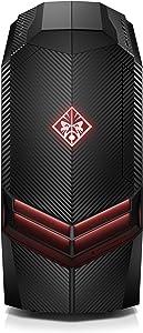 OMEN by HP Gaming Desktop Computer, AMD Ryzen 7 1800X, NVIDIA GeForce GTX 1080, 16GB RAM, 2TB hard drive, 512GB SSD, Windows 10 (880-040, Black) (Renewed)