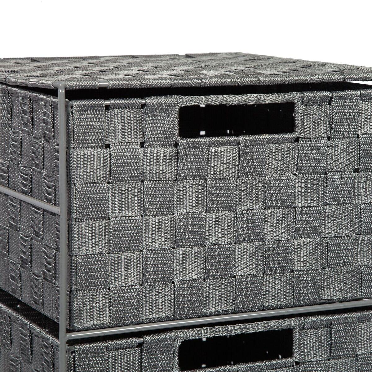 EHC 2 Drawer Storage Unit Cabinet for Bedroom / Bathroom - Grey Elite