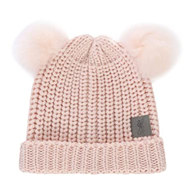 3fdc5011a48 Liverpool FC Pink Girls Football Knit Pom Hat AW 18 19LFC Official   Amazon.co.uk  Clothing