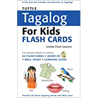 Tuttle Tagalog for Kids Flash Cards: [Includes 64 Flash Cards, Audio CD, Wall Chart & Learning Guide]