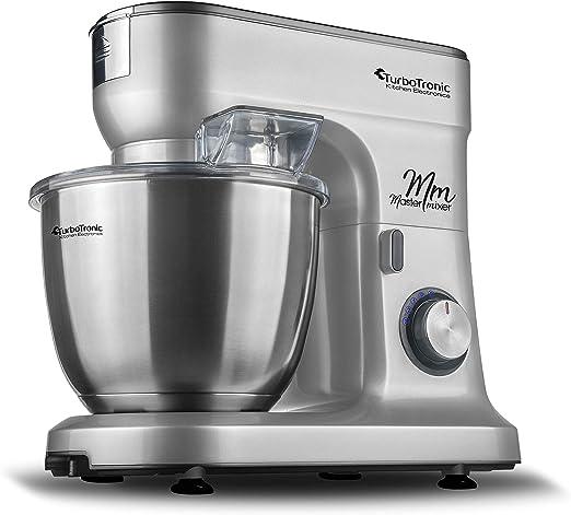 Robot de cocina multifunción, para mezclar de/ – Amasadora, cuenco amasador con velocidad continua de masa, 6,5 litros Acero inoxidable plata: Amazon.es: Hogar