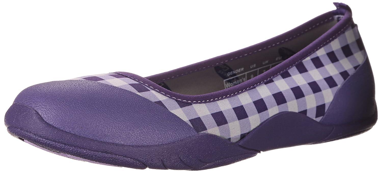 MuckBoots Women's Breezy Casual Rubber Ballet Flat B00NV64132 8 B(M) US|Purple Gingham