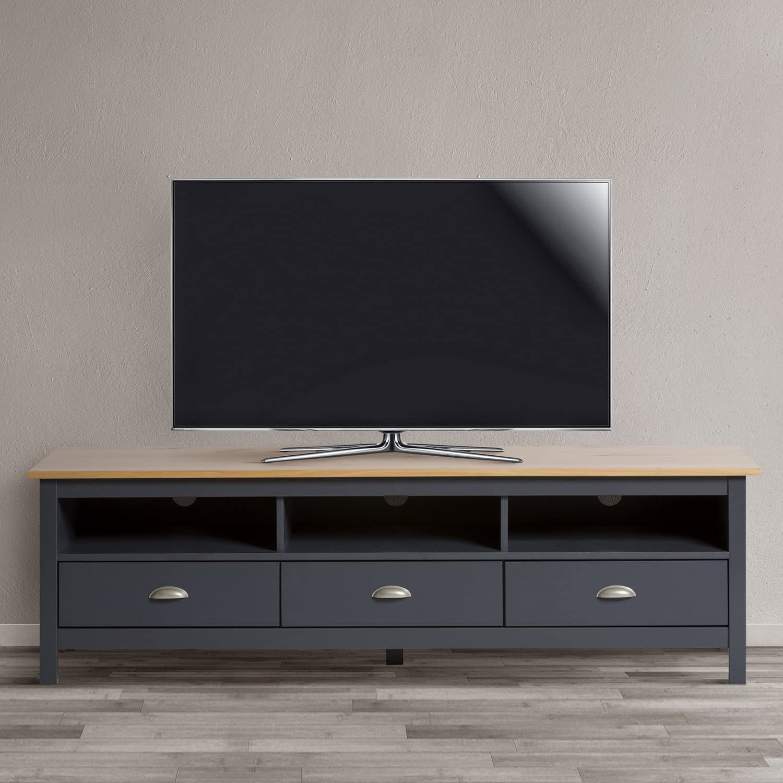 VS Venta-stock Mueble TV Bora Bora 3 Cajones, Madera Maciza, Color ...
