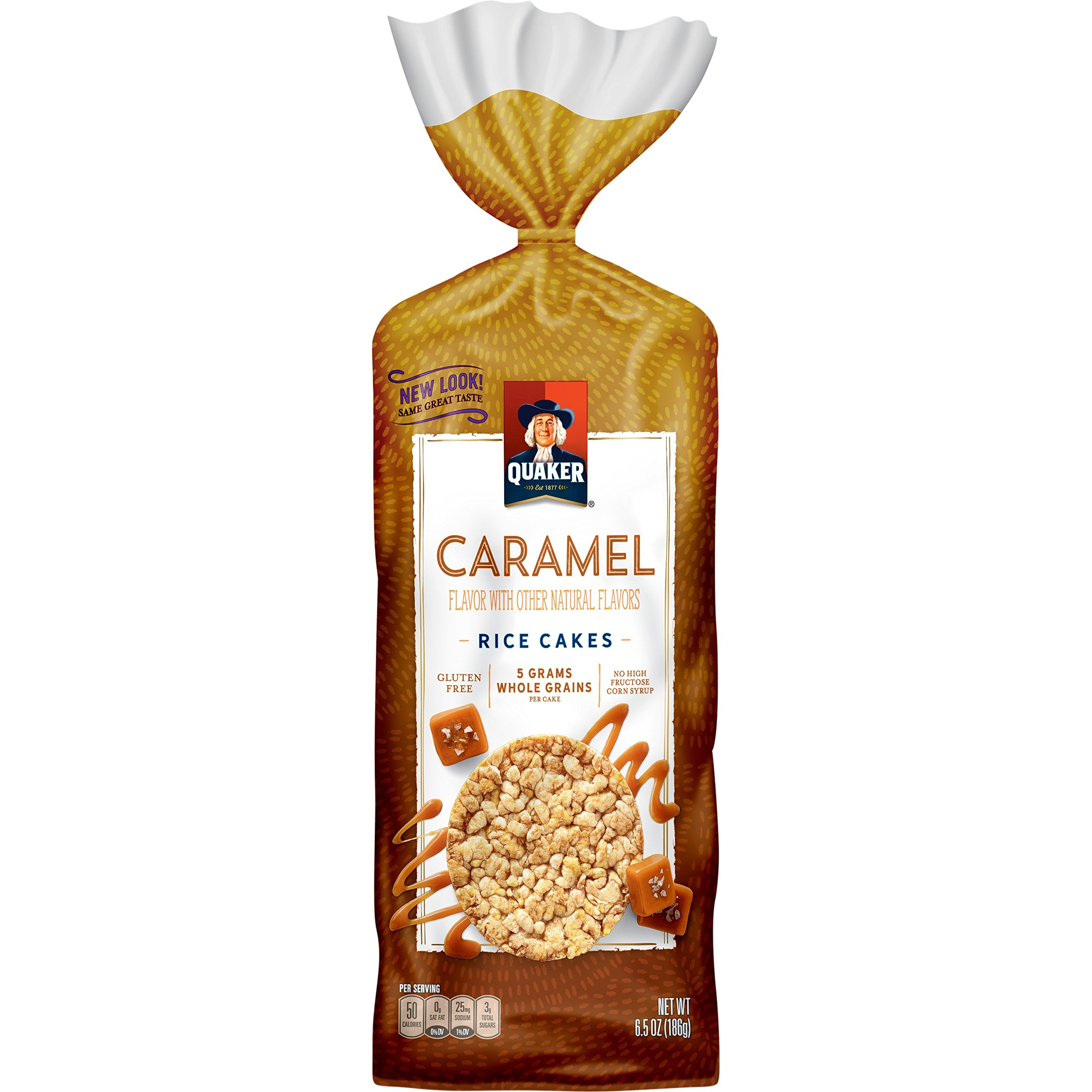 Quaker Rice Cakes, Caramel Corn, 6.56 oz