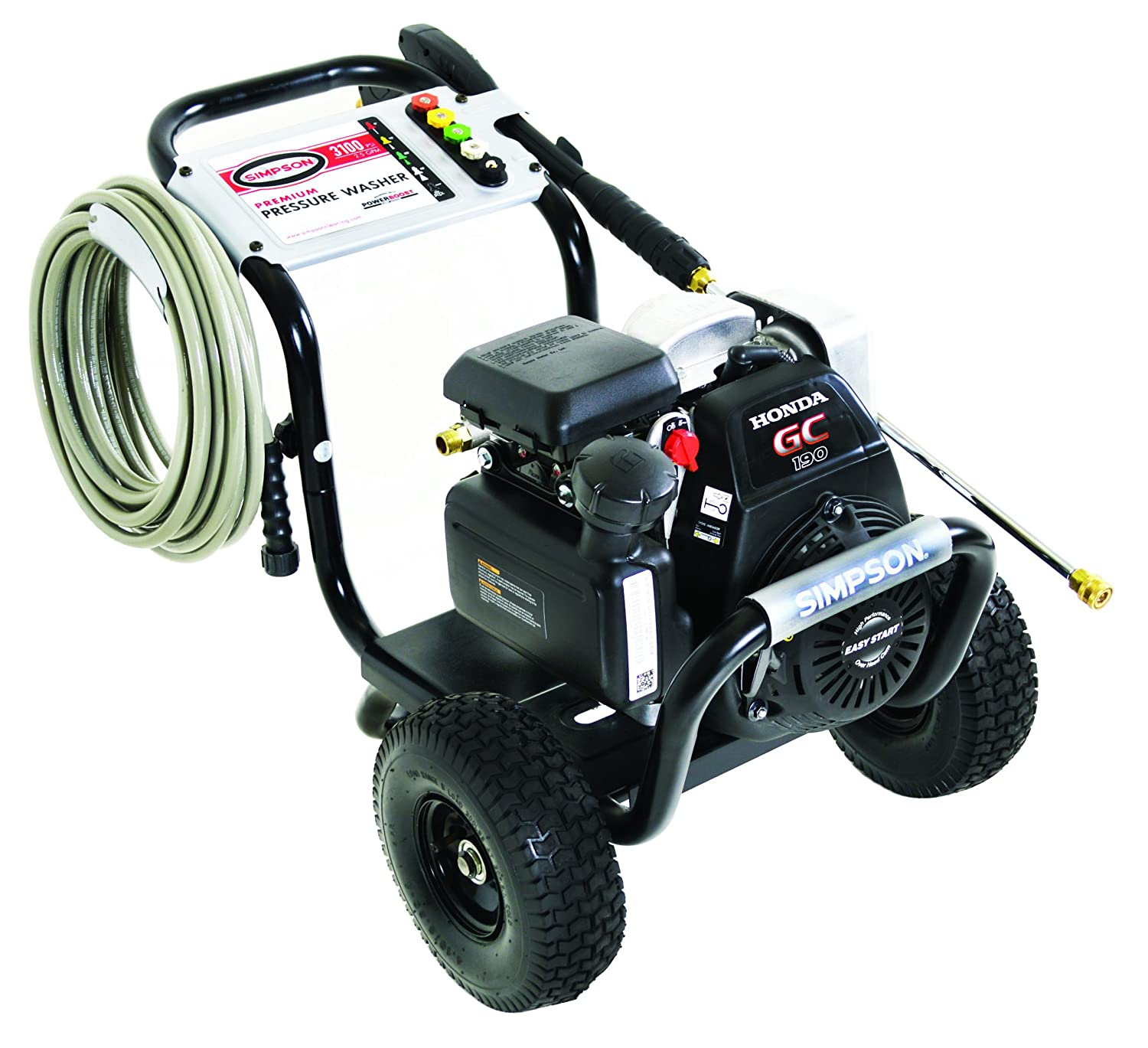 <strong>Best Gas Pressure Washer: </strong> <strong>The Simpson MSH3125-S MegaShot Gas Pressure Washer</strong>