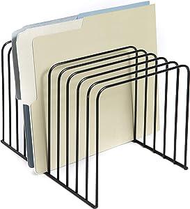 Klickpick Office Desk File Organizer Sorter 11 Divider Sections - Black